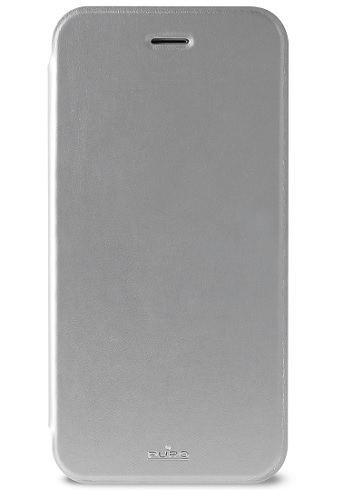 Billede af iPhone 6S / 6 flipcover med kortholder Puro Booklet Sølv