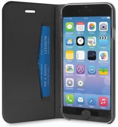 """Billede af Puro iPhone 6/6S Plus (5.5"""") Flipcover med Dankortlomme Sort"""