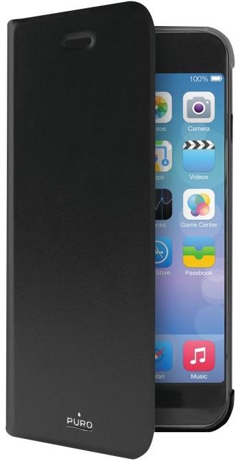 """Billede af Puro iPhone 7 (4.7"""") Flipcover med Dankortlomme Sort"""