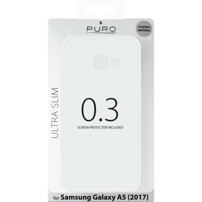 Image of   Puro Ultra-Slim 0.3 cover til Samsung Galaxy A5 (2017) transparent