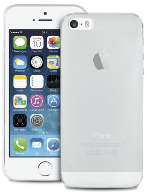 Image of   Puro Ultra-Slim 0.3 Nude Cover til iPhone 5/5S/SE gennemsigtig