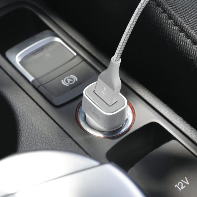 Billede af Puro Universal USB billader 2.4A Fast Charge Hvid