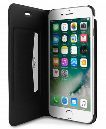 """Billede af Puro iPhone 7/6S/6 Plus (5.5"""") Flipcover med Dankortlomme Sort"""