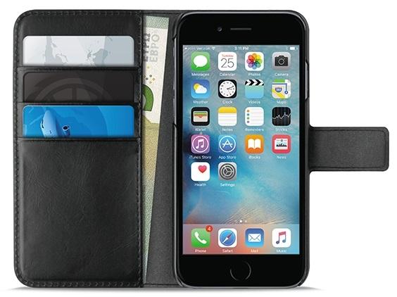 """Billede af Puro Milano iPhone 7/6S/6 Plus (5.5"""") Flipcover med 4 kort/seddel lommer"""