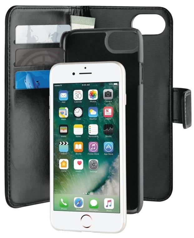 Billede af Puro 2-i-1 læder cover / pung i læder til iPhone 6 / 6S / 7 Sort