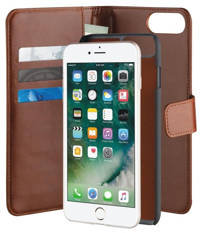 """Billede af Puro Duetto 2in1 læder cover til iPhone 7 Plus / 6S Plus (5.5"""") Brun"""