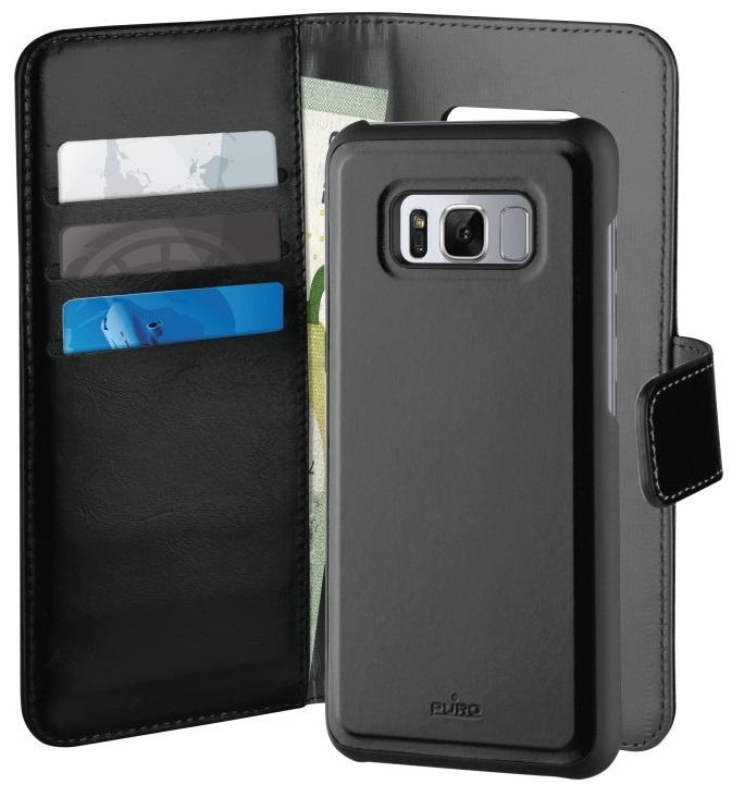 Billede af Puro Duetto 2in1 læder cover til Samsung Galaxy S8 Sort/grå