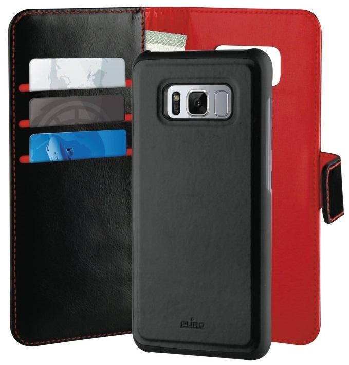 Billede af Puro Duetto 2in1 læder cover til Samsung Galaxy S8 Sort/rød