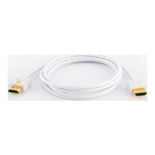 Image of   Qnect HDMI kabel High Speed med Ethernet ultra slim hvid 2m