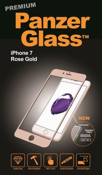 Billede af Panzer Glass Sikkerhedsglas Premium iPhone 7 dækker hele fronten Rose Gold