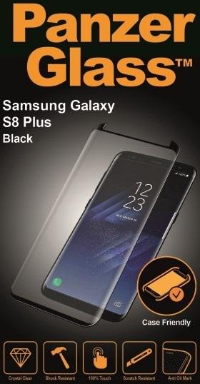 Billede af Panzer Glass Sikkerhedsglas Premium til Samsung Galaxy S8+ Plus Sort (Case Friendly)