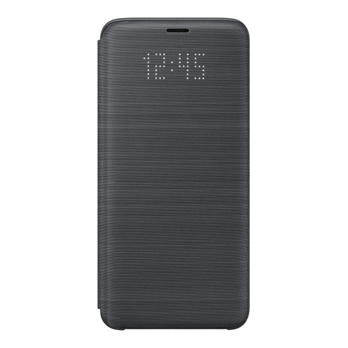 Image of   Samsung - EF-NG960PB - LED View Cover / Book Case - G960F Galaxy S9 - Black