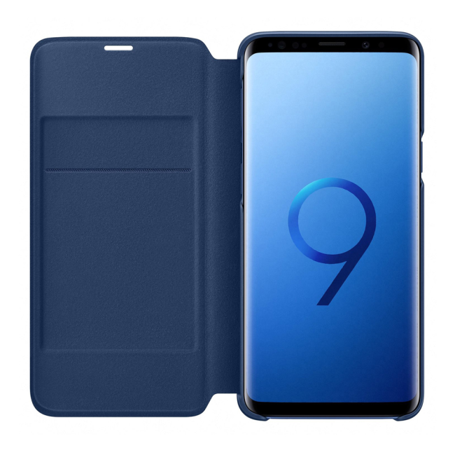 Image of   Samsung - EF-NG960PL - LED View Cover / Book Case - G960F Galaxy S9 - Blue