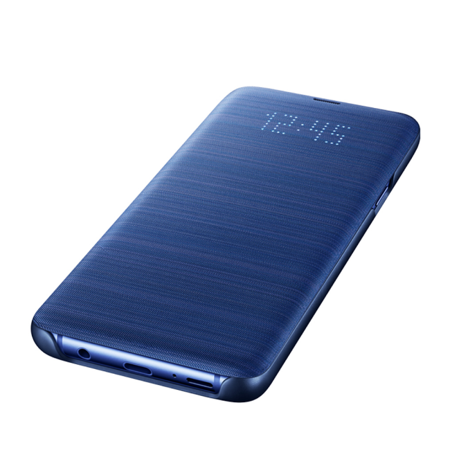 Image of   Samsung - EF-NG965PL - LED View Cover / Book Case - G965F Galaxy S9 Plus - Blue