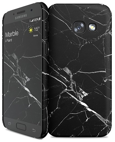 Image of   Samsung Galaxy A3 (2017) cover med marmor mønster i-Paint Marble