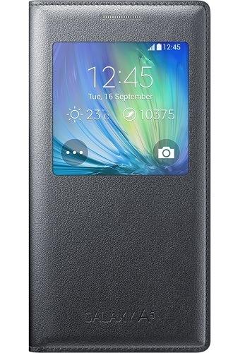 Billede af Samsung Galaxy A5 S View cover originalt Samsung EF-CA500 flipcover Sort