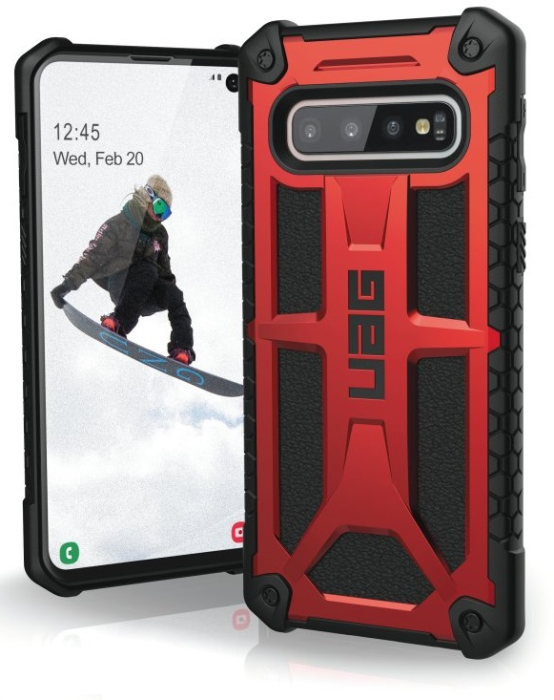 Image of   Samsung Galaxy S10 Cover UAG Monarch Rød Sort