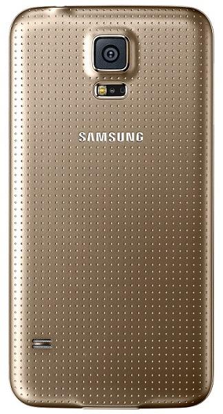 Billede af Samsung Galaxy S5 batteri cover Guld