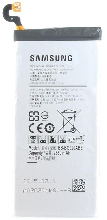 Billede af Samsung Galaxy S6 Batteri EB-BG920ABEGWW Originalt