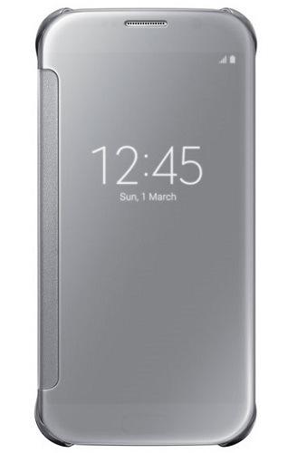 Billede af Samsung Galaxy S6 Clear View Flip Cover Originalt Sølv