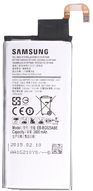 Billede af Samsung Galaxy S6 Edge Batteri EB-BG925ABEGWW Originalt