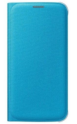 Billede af Originalt Samsung Galaxy S6 Flip Wallet i Stof Fabric Blå