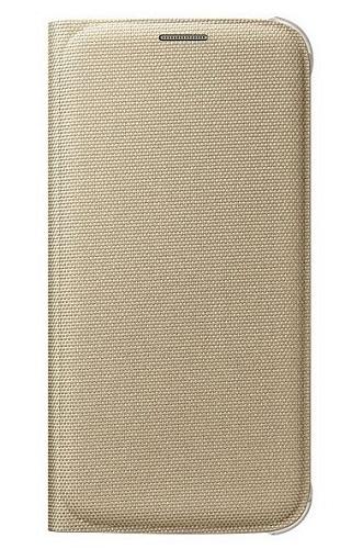 Billede af Originalt Samsung Galaxy S6 Flip Wallet Cover EF-WG920BF Guld