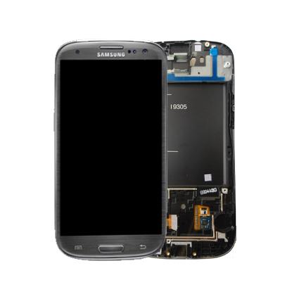 Billede af Reservedel: Originalt Samsung i9305 Galaxy S III 4G Touch/LCD Unit Grå
