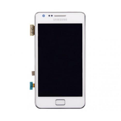 Image of   Originalt Samsung i9100 Galaxy S II Touch/LCD Unit - Hvid
