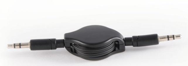 Image of   Samtrækkeligt Minijack 3.5 mm kabel 08m
