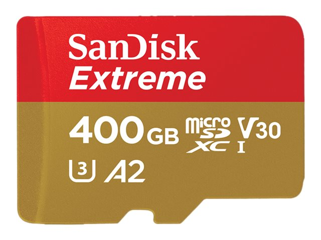 Image of   SANDISK EXTREME MICROSDXC (400GB W/ SD ADAPTER 160MB/S)