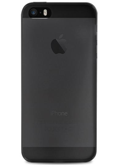 Silikone cover til Apple iPhone 5/5S/SE Puro Ultra Slim 0.3 Sort