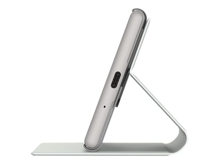 Image of   Sony Style Cover Stand til Sony Xperia XZ1 - Sølv
