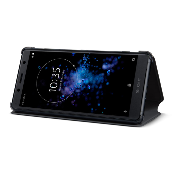 Image of   Sony Style Cover Stand til Sony Xperia XZ2 Compact - Sort