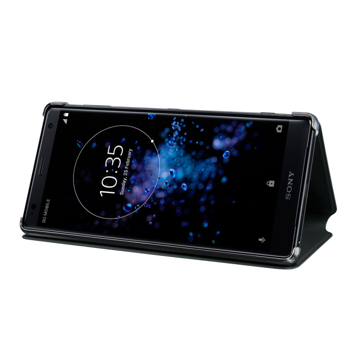 Image of   Sony Style Cover Stand til Sony Xperia XZ2 - Sort