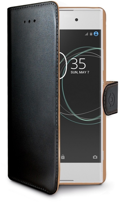 Image of   Sony Xperia XA1 flipcover Celly Wally Case - Sort
