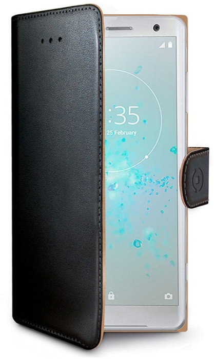 Image of   Sony Xperia XZ2 Compact flipcover Celly Wally Case - Sort