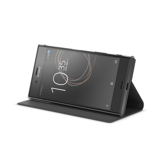 Image of   Sony Xperia XZs Style cover med stander SCSG20 Sort