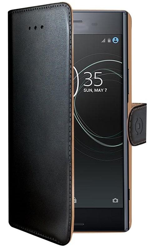 Billede af Sony Xperia XZ Premium flipcover med Dankortlommer Celly Wally Case Sort