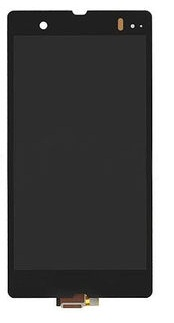 Image of   Original Sony Xperia Z komplet LCD / touch modul med forsegling - Sort