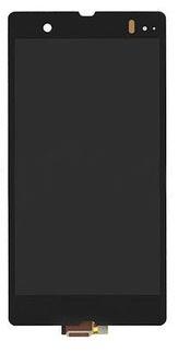 Billede af Original Sony Xperia Z komplet LCD / touch modul med forsegling - Sort