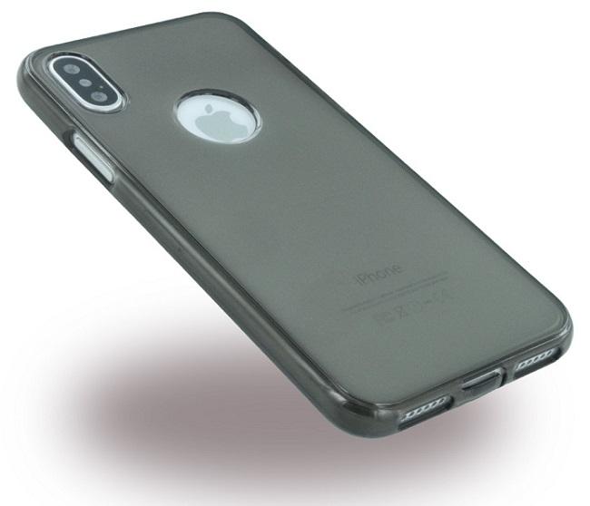 Sort Silikone Cover Til Apple iPhone X/XS Ultra Thin Silikone