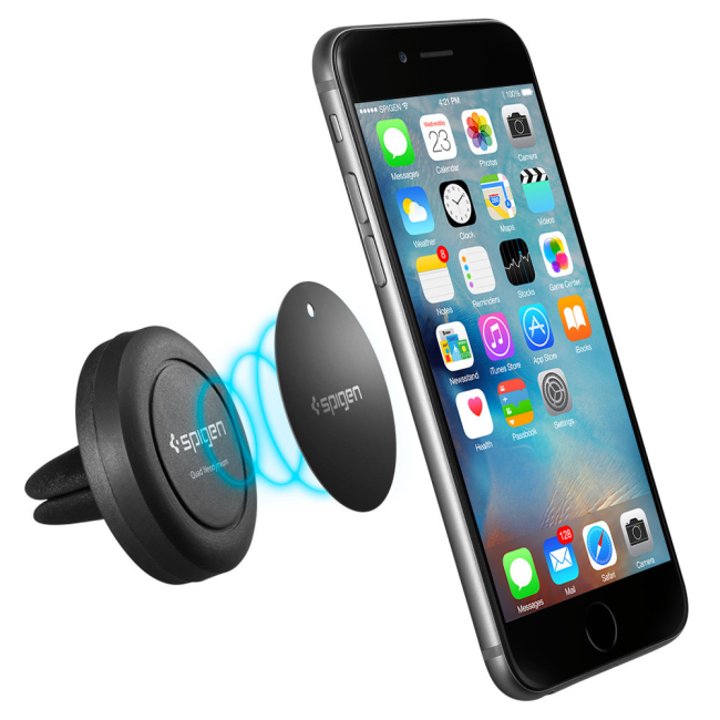 Image of   Spigen Air Vent Magnetic Universal Car Mount Holde for Universal black