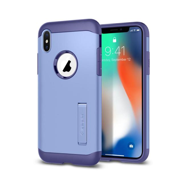 Image of   Spigen Case Slim Armor cover til iPhone X Violet