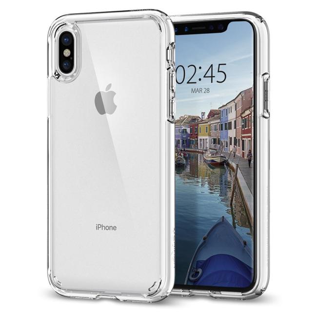 Image of   Spigen Case Ultra Hybrid cover til iPhone X Crystal Clear