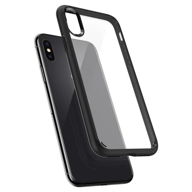 Image of   Spigen Case Ultra Hybrid cover til iPhone X Mat Sort