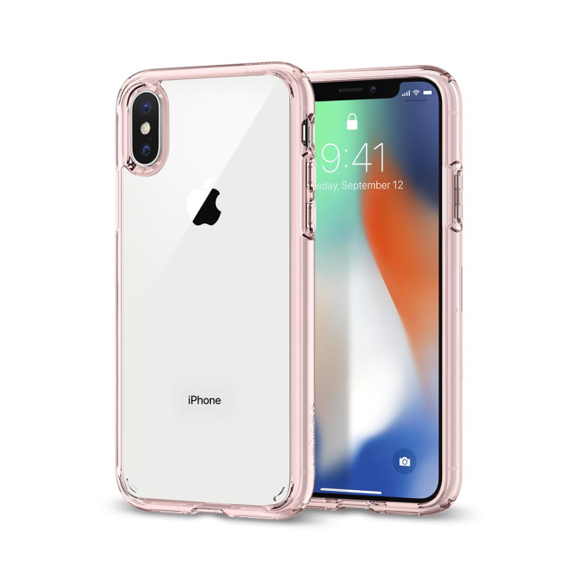 Image of   Spigen Case Ultra Hybrid cover til iPhone X Rose Crystal