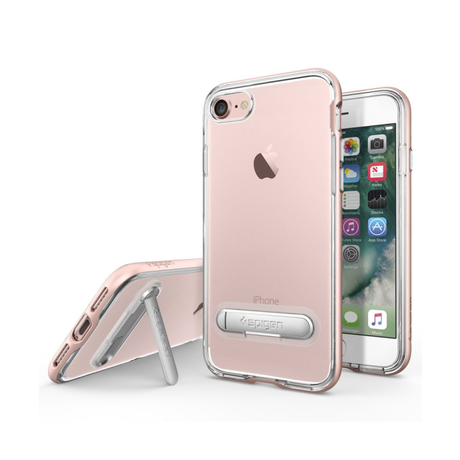 Image of   Spigen Crystal Hybrid cover til iPhone 7/8 Rose Gold