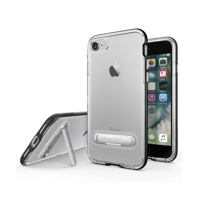 Image of   Spigen Crystal Hybrid cover til iPhone 7/8 Sort