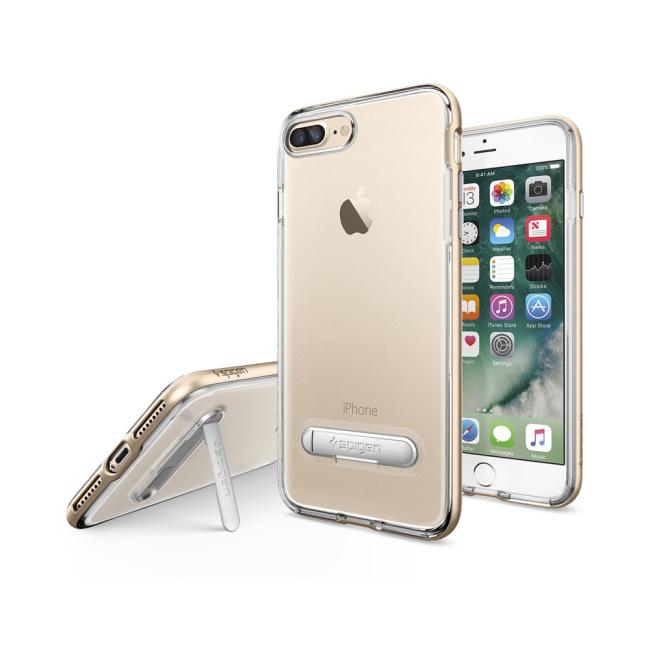 Image of   Spigen Crystal Hybrid cover til iPhone 7 Plus/8 Plus Champagne Gold